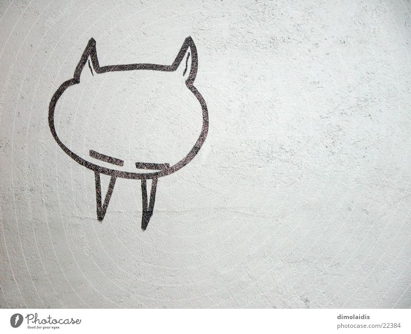 Wall (building) Sleep Illustration Painting (action, work) Set of teeth Draw Plaster Devil Vampire Reykjavík