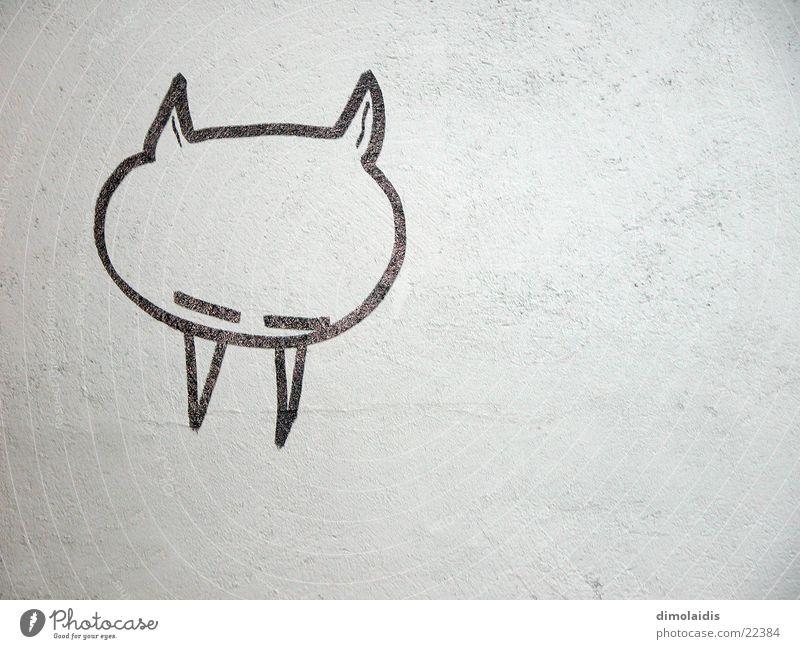 Wall (building) Sleep Illustration Painting (action, work) Set of teeth Draw Plaster Devil Vampire Reykjavík