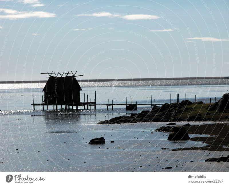 Water Ocean House (Residential Structure) Footbridge Fishing (Angle) Fisherman High tide Low tide