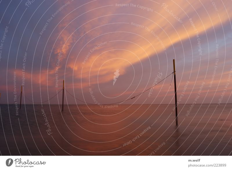 Sky Nature Water Ocean Vacation & Travel Calm Far-off places Autumn Freedom Environment Weather Rope Horizon North Sea Wanderlust Beautiful weather