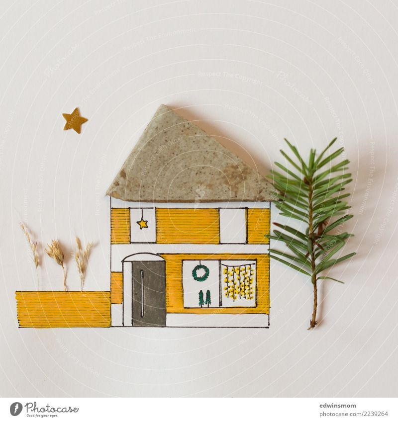 Nature Christmas & Advent White House (Residential Structure) Calm Winter Warmth Yellow Autumn Natural Wood Garden Stone Gray Leisure and hobbies Bright