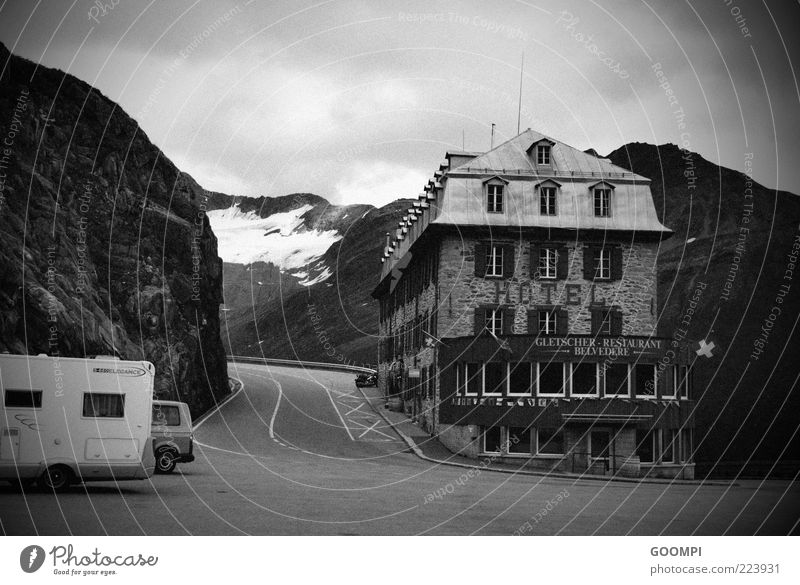 High Hotel House (Residential Structure) Street Mountain Fear Switzerland Glacier Time