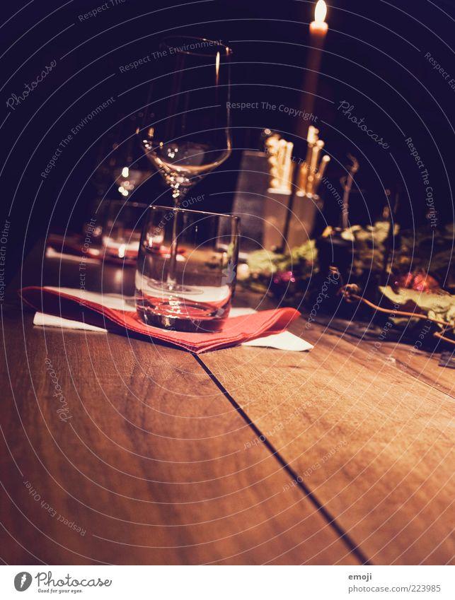 wine tasting session Alcoholic drinks Wine Glass Dark Table Wine glass Cozy degustation Napkin Colour photo Copy Space bottom Night Light Shadow Tumbler Candle