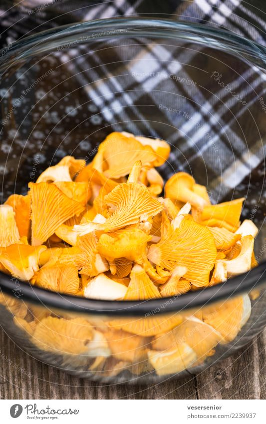 chanterelles 1 Food Chanterelle Mushroom Vegetarian diet Simple Success Fresh Delicious Natural Healthy Nature Pure Thrifty Colour photo Close-up Deserted Day