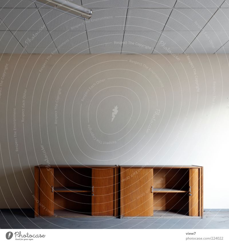 tidy up the workplace Moving (to change residence) Interior design Furniture Room Wall (barrier) Wall (building) Stone Concrete Wood Old Simple Brown Design