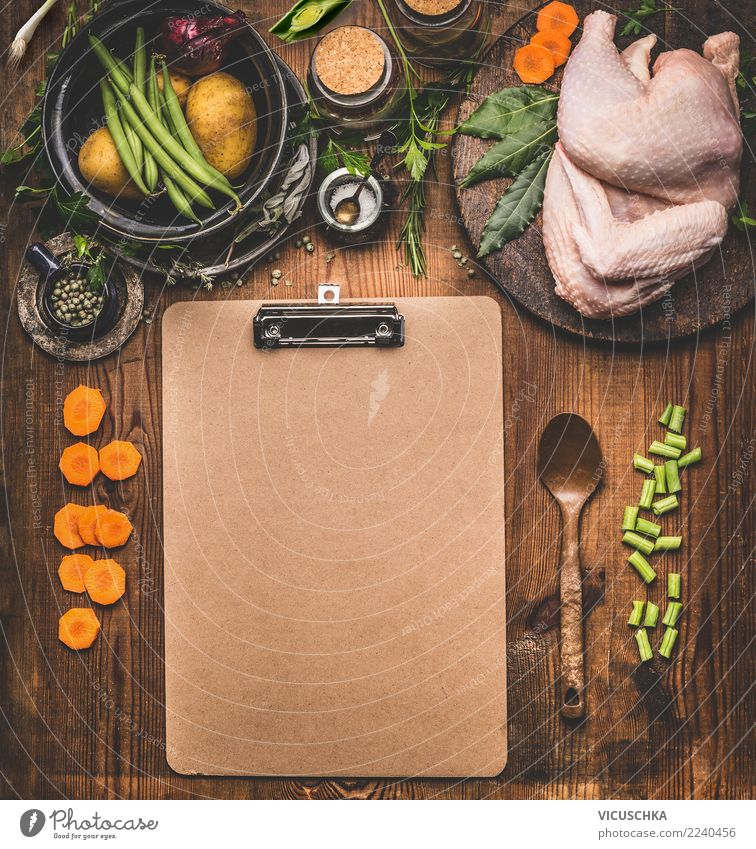 Background for Chicken Recipes Food Meat Vegetable Herbs and spices Cooking oil Nutrition Dinner Organic produce Crockery Style Design Healthy Eating Table