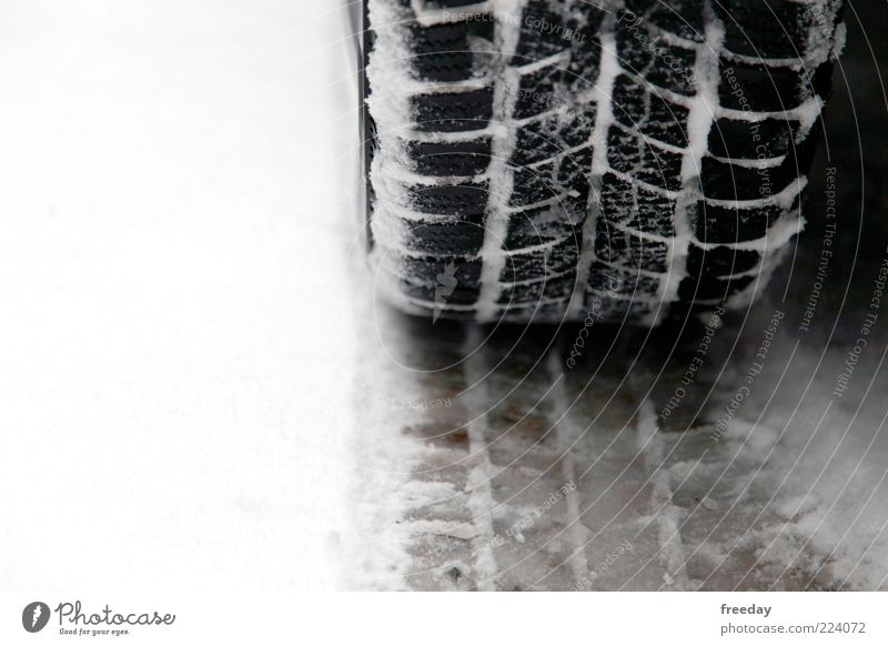 StVO - Winter tyre obligation Snow Climate Weather Bad weather Ice Frost Transport Traffic infrastructure Road traffic Motoring Street Vehicle Car Cold Tire