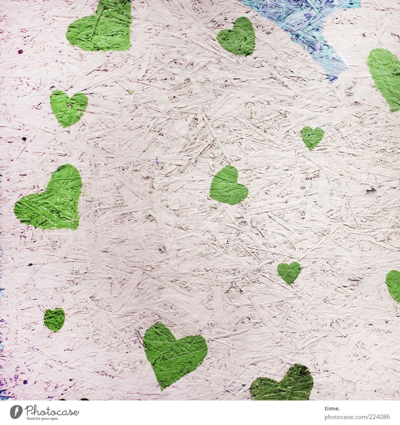 Green Blue Love Emotions Style Bright Art Heart Dirty Esthetic Modern Decoration Information Symbols and metaphors Friendliness Material