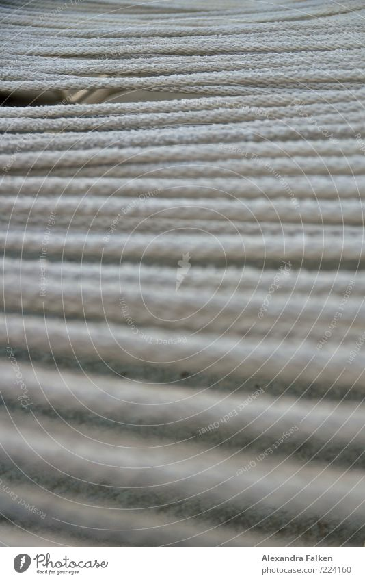 Relaxation Gray Rope Couch Many String Deckchair Pattern Tense