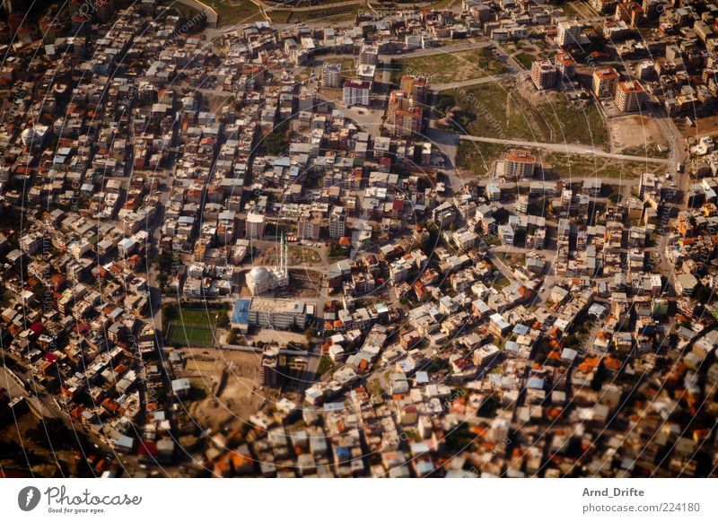 City Landscape Brown Large Roof Infinity Manmade structures Accumulation Tourist Attraction Turkey Copy Space Mosque Aerial photograph Bird's-eye view