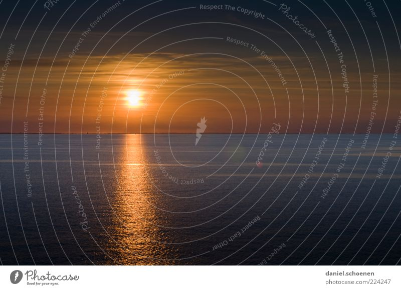 Ocean Vacation & Travel Far-off places Yellow Relaxation Earth Horizon Stars Gold Beginning Future Sunset Beautiful weather Dusk Visual spectacle Sunrise