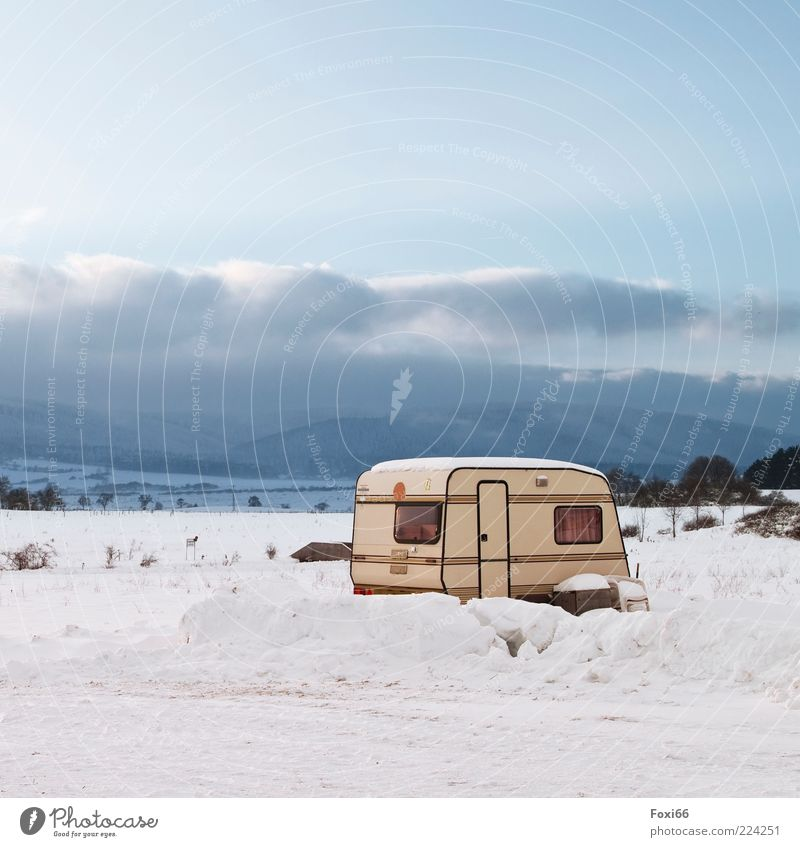 winter camping Nature Landscape Clouds Snow Relaxation Exceptional Far-off places Cold Natural Beautiful Blue White Adventure Colour photo Exterior shot