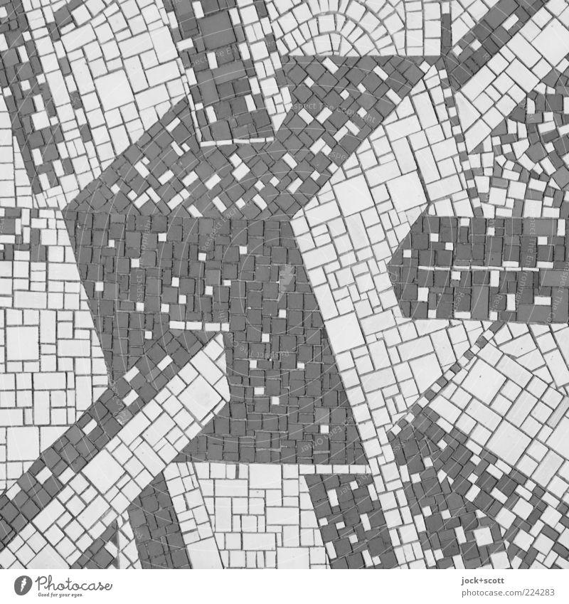 Cube Mosaic Science & Research Advancement Future Arts and crafts Decoration Ornament Square Retro Innovative Complex Creativity Network Symmetry