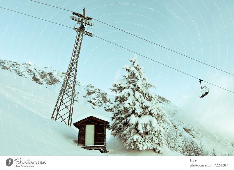 Sky Nature Tree Plant Clouds Winter Cold Snow Mountain Landscape Environment Door Rock Alps Fir tree Hut