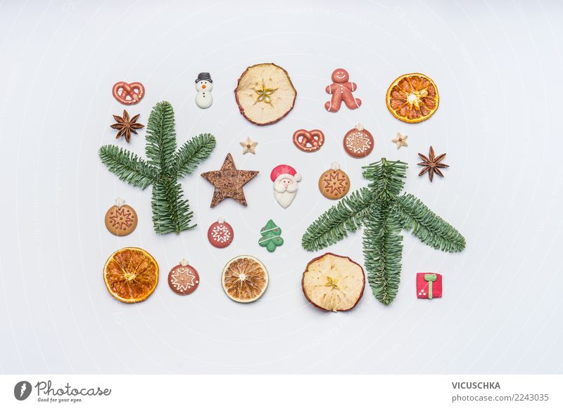 Christmas & Advent Winter Food photograph Style Feasts & Celebrations Design Decoration Creativity Sign Candy Collection Apple Tradition Inspiration Still Life