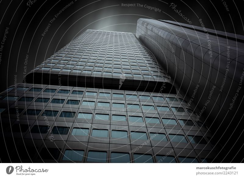 Blue Town White Window Black Architecture Building Business Germany Gray Facade Design Metal High-rise Elegant Glass