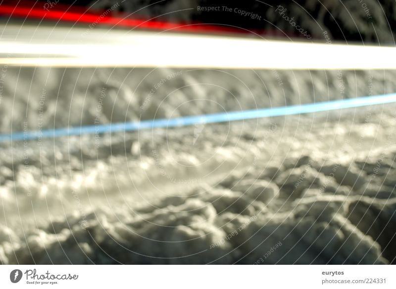 White Blue Red Winter Snow Energy Visual spectacle Road traffic Roadside Tracer path Light blue Shadow Abstract Snow track