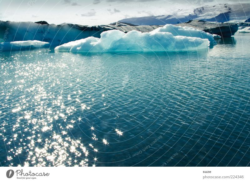 Nature Water Vacation & Travel Cold Lake Landscape Ice Coast Glittering Environment Frost Climate Exceptional Iceland Glacier Climate change