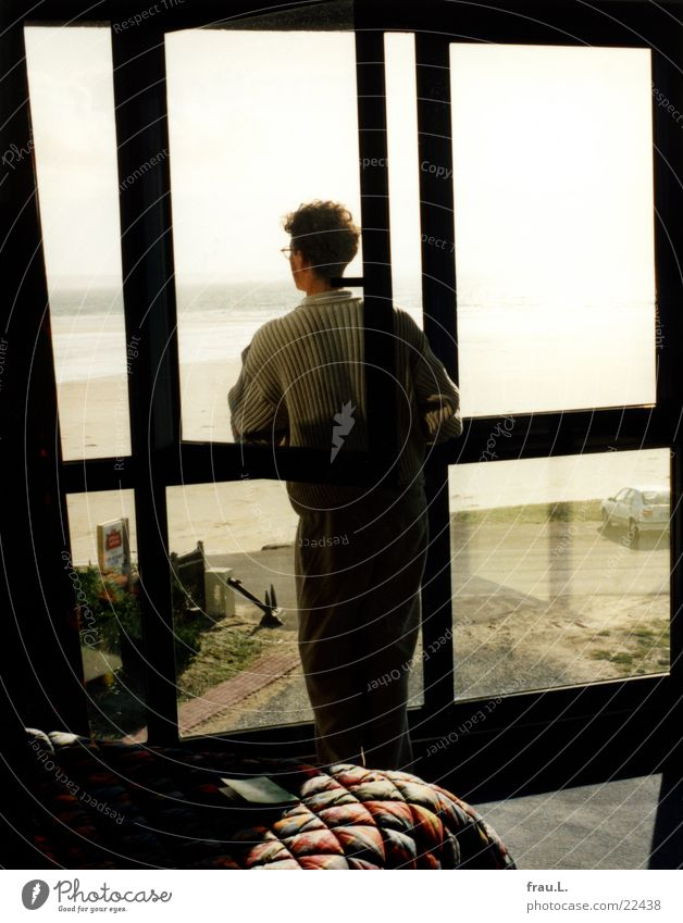 Man Ocean Beach Vacation & Travel Calm Loneliness Street Relaxation Window Dream Coast Bed Observe France Bay Atlantic Ocean