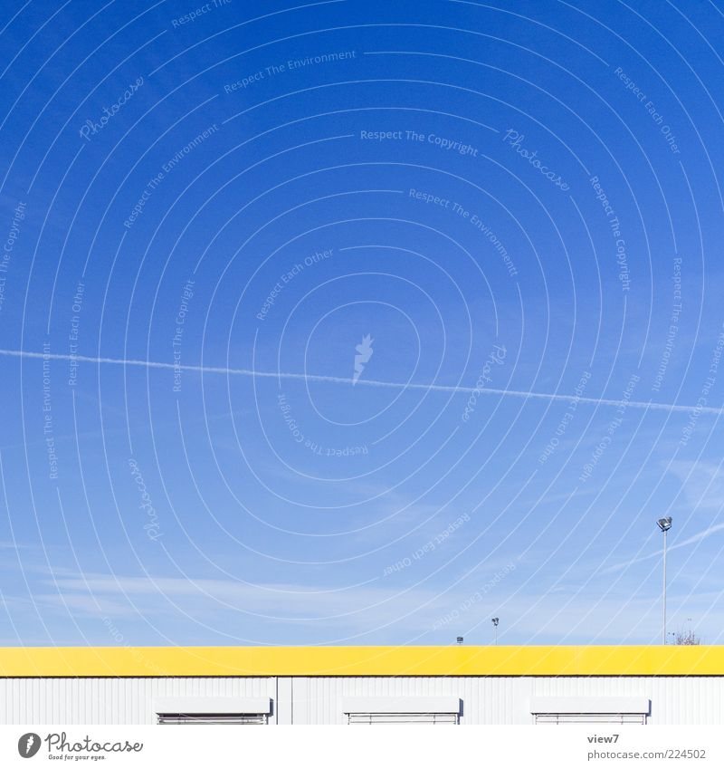 Sky House (Residential Structure) Yellow Wall (building) Above Wall (barrier) Building Small Metal Line Facade Modern Esthetic Climate Authentic Stripe