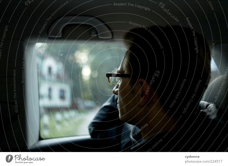 Human being Youth (Young adults) Calm Life Relaxation Emotions Environment Adults Lifestyle Eyeglasses Car Window Observe Meditative Motoring Well-being Thought
