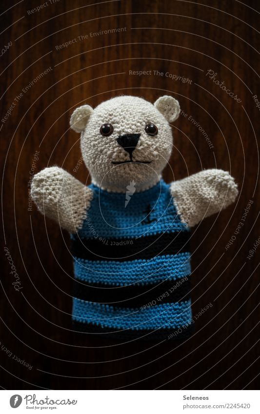 Yippee! Friday! Leisure and hobbies Playing Handcrafts Puppet player Glove puppet Cuddly toy Bear Teddy bear Friendliness Happiness Soft Joy Happy Contentment
