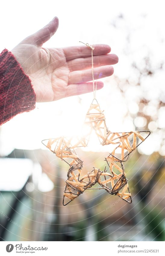Christmas star in hands Sun Winter Decoration Feasts & Celebrations Christmas & Advent Child Craft (trade) Woman Adults Hand Ornament New White christmas Hold