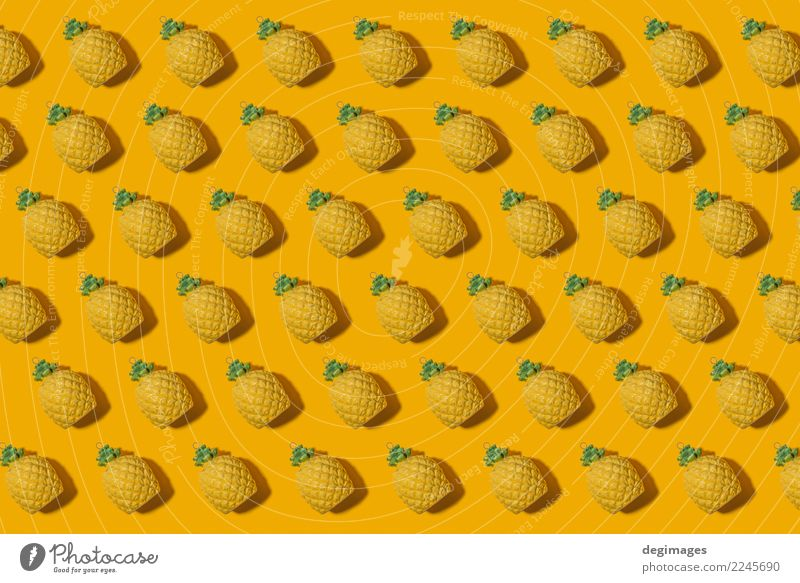 Pineapple pattern Fruit Style Design Summer Decoration Nature Fashion Fresh Natural Juicy Yellow White Colour background food Tropical healthy Organic isolated