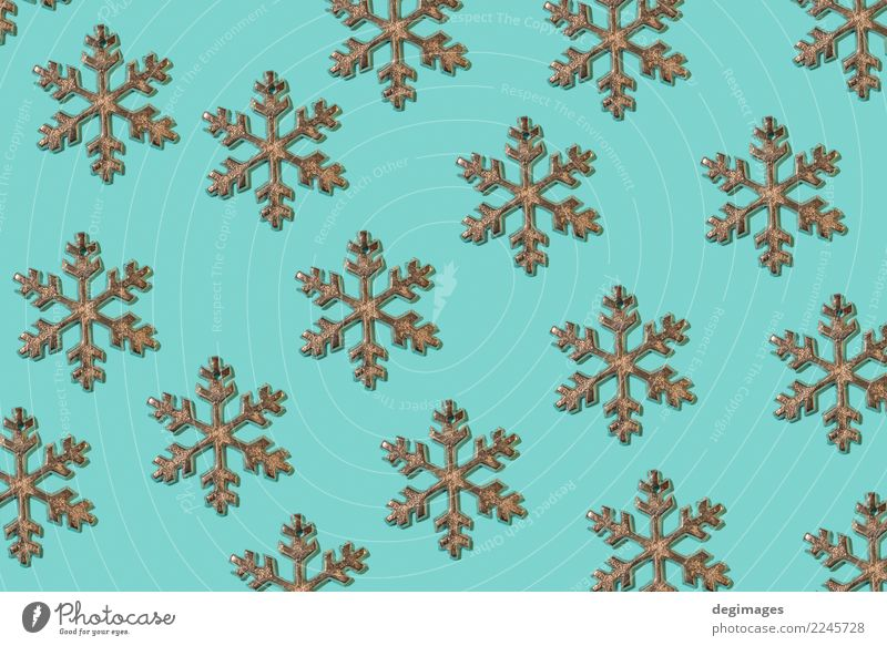 Snowflakes repeated on blue Design Winter Decoration Wallpaper Feasts & Celebrations Christmas & Advent Paper Ornament New Blue White background Repeating