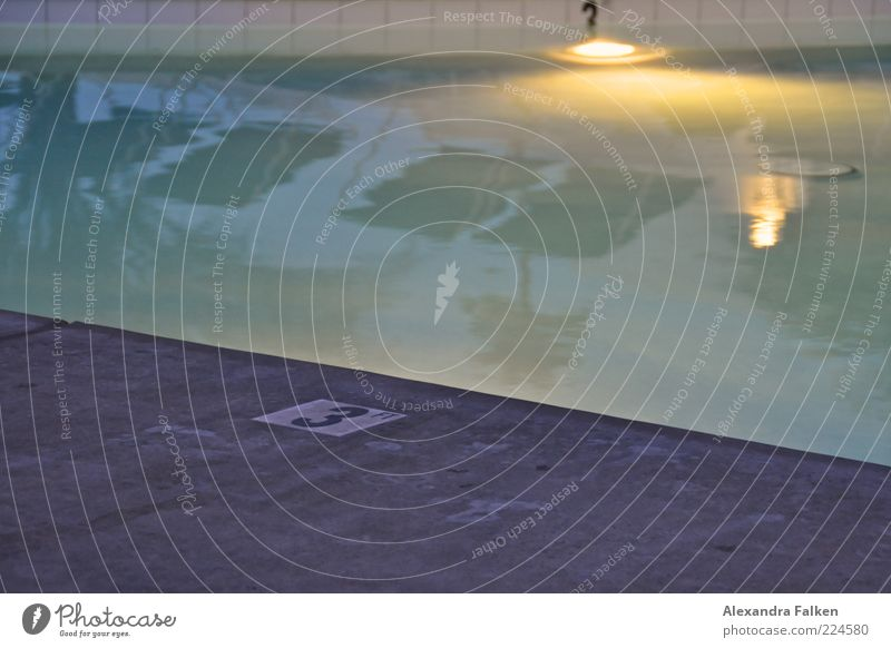 Calm Relaxation Style Leisure and hobbies Elegant 3 Digits and numbers Wellness Swimming pool Sign Surface of water Deckchair Section of image Partially visible