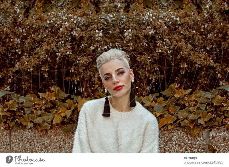 Fashion portrait woman Human being Nature Youth (Young adults) Young woman Beautiful Loneliness Joy Lifestyle Senior citizen Feminine Design Contentment Modern