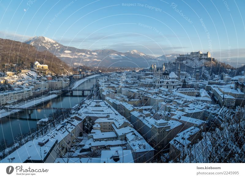 Nature Vacation & Travel Christmas & Advent Town Winter Mountain Hiking Church Europe Alps Skyline City trip Castle Sightseeing New Year's Eve Austria
