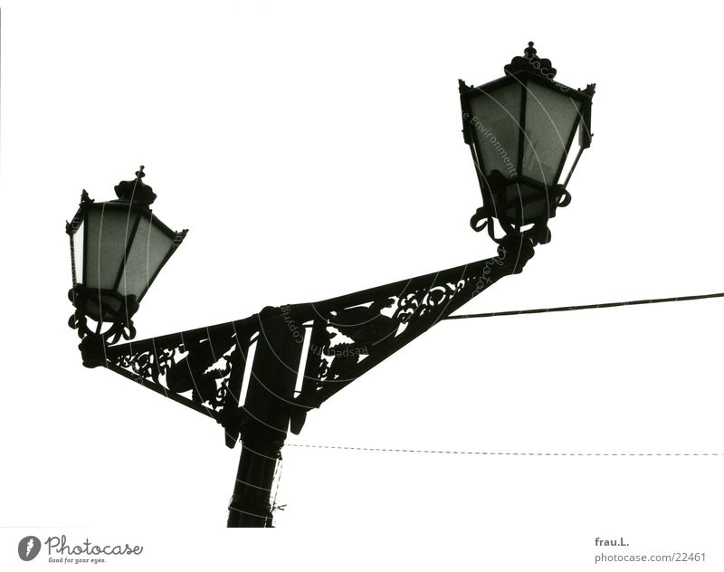 wired Street lighting Marketplace Art nouveau Lamp Historic Wismar Cable Mecklenburg-Western Pomerania Things Baltic Sea Reunification Dragon Old Past GDR