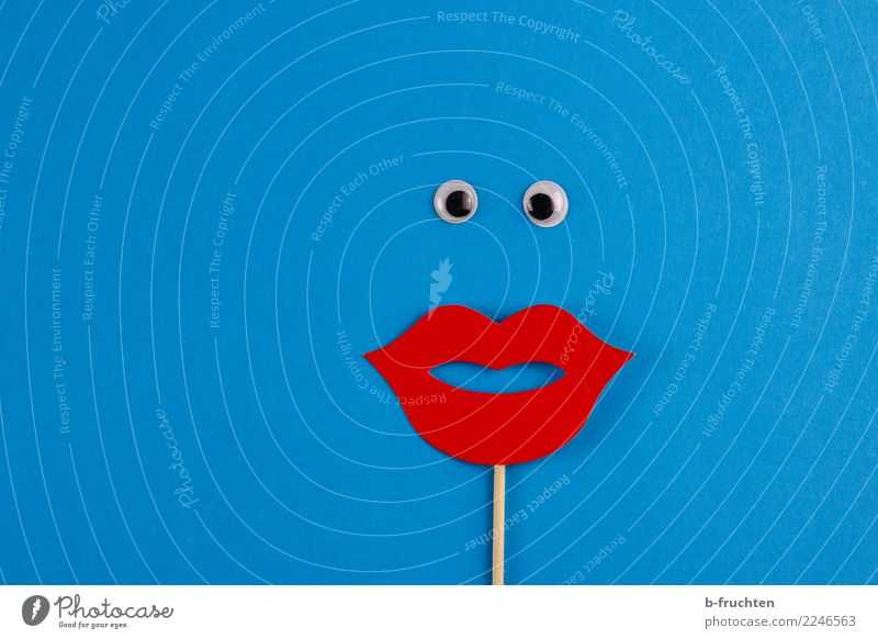 Oh! Oh! Oh! Carnival Woman Adults Face Observe Love Looking Brash Curiosity Feminine Blue Red Surprise Idea Inspiration Eyes Requisite Pout Mouth Cliche Kissing