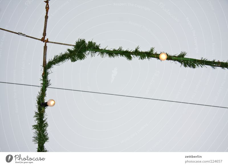 Sky Christmas & Advent Winter Lamp Tall Decoration Illuminate Chain Electric bulb Illumination Christmas decoration Christmas Fair Cloudless sky Fairy lights