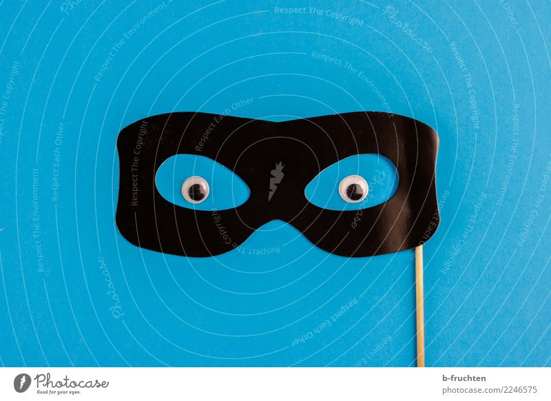 Blue Black Eyes Religion and faith Feasts & Celebrations Communicate Threat Sign Eyeglasses Protection Mask Carnival Hide Irritation Shame Hallowe'en