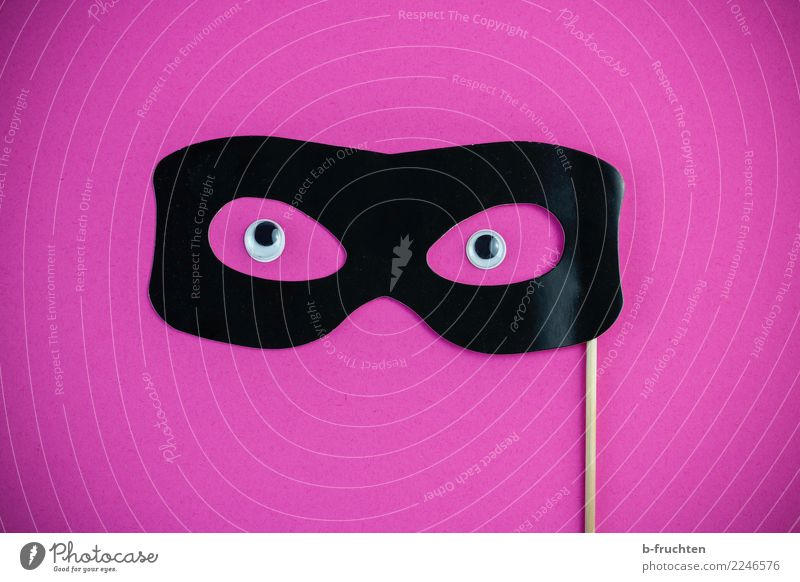 Anonymous Feasts & Celebrations Carnival Hallowe'en Mask Eyeglasses Communicate Looking Curiosity Pink Black Secrecy Uniqueness Religion and faith Surveillance