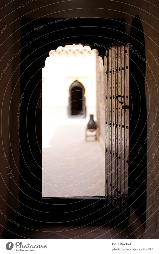 #A# Door to the Orient Art Esthetic Gate Morocco Marrakesh Near and Middle East Arabia Exterior shot Colour photo Subdued colour Close-up Detail Experimental
