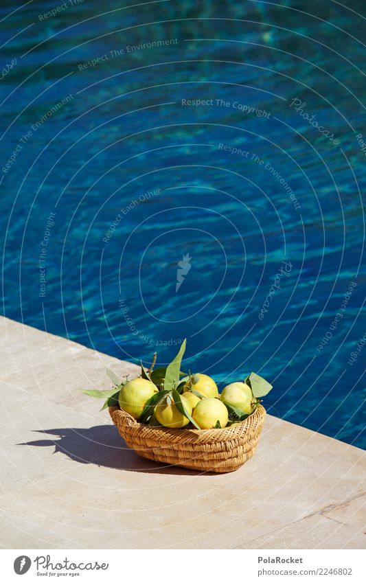 #A# Vitamin C to the pool Art Work of art Esthetic Swimming pool Summer vacation Relaxation Wellness Pamper Vacation mood Paradise Paradisical Tangerine