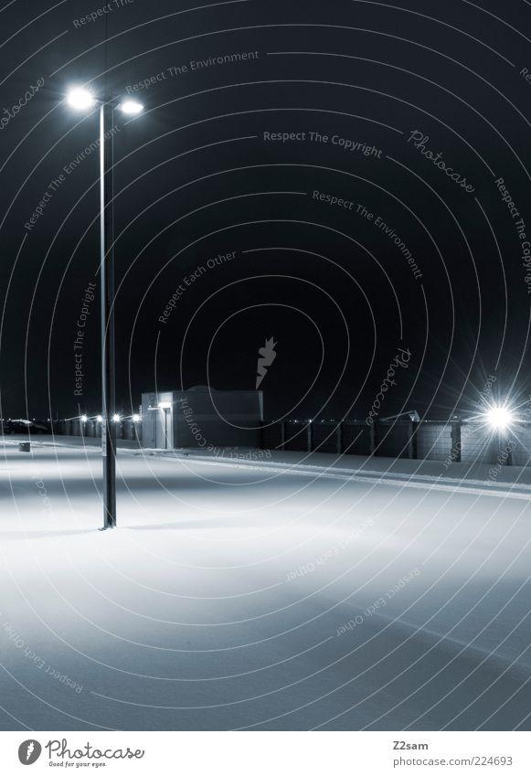 City Winter Calm Cold Dark Snow Architecture Arrangement Modern Esthetic Empty Simple Clean Lantern Street lighting