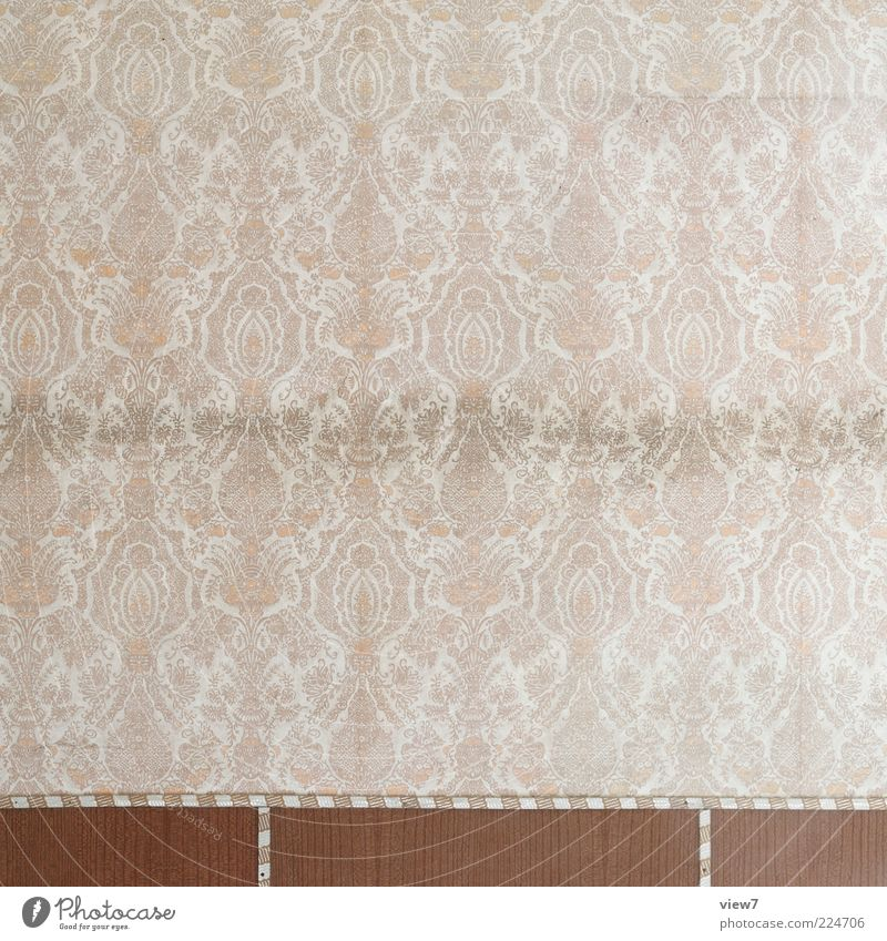 Old Line Brown Room Dirty Background picture Esthetic Empty Retro Stripe Authentic Decoration Transience Wallpaper Moving (to change residence) Shabby
