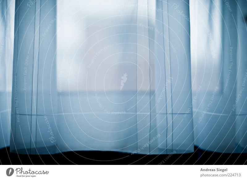 A breath Flat (apartment) Room Curtain Window Line Stripe Authentic Dark Fresh Bright Cold Gloomy Blue White Esthetic Ease Style Delicate Back draft Simple