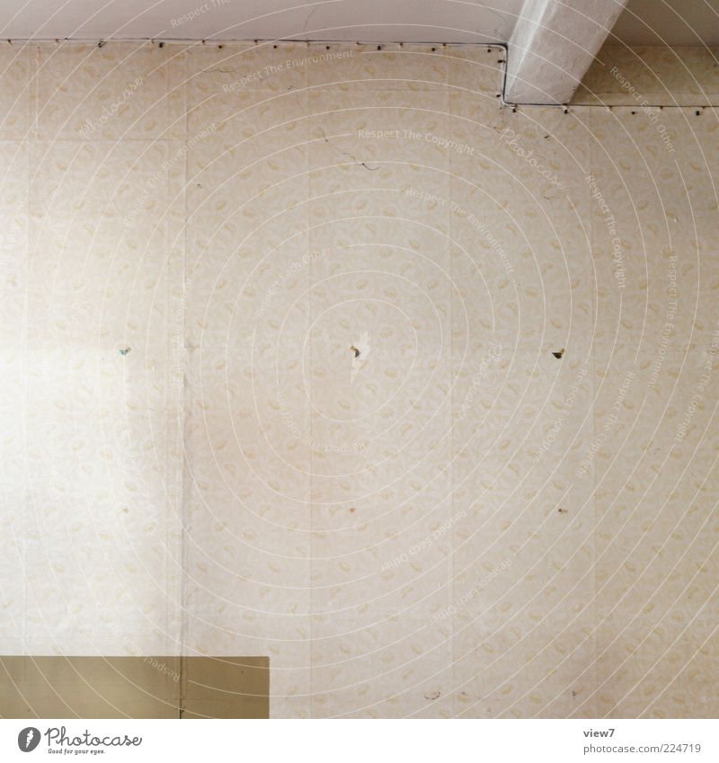 Old Loneliness Far-off places Wall (building) Line Brown Room Flat (apartment) Dirty Design Arrangement Esthetic Interior design Stripe Retro Simple