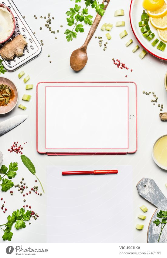 Healthy Eating Food photograph Background picture Style Design Modern Table Computer Shopping Paper Organic produce Crockery Notebook
