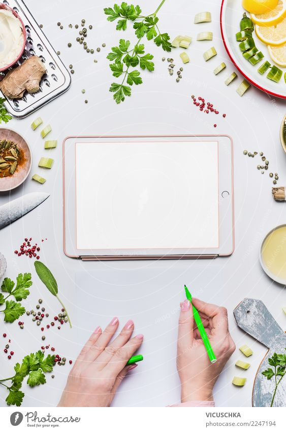 Modern Personalized Nutrition Plan Food Vegetable Organic produce Vegetarian diet Diet Crockery Shopping Style Design Healthy Health care Healthy Eating