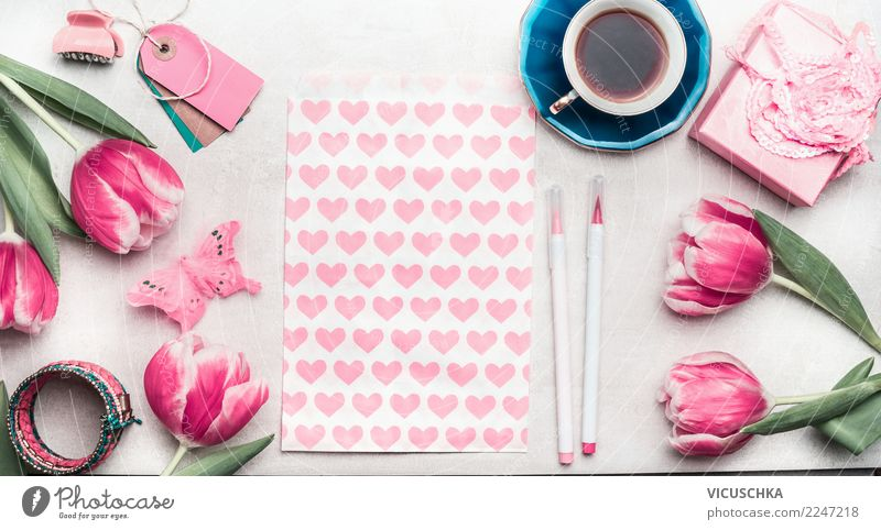 White Flower Love Feminine Style Feasts & Celebrations Pink Design Living or residing Decoration Birthday Table Heart Sign Wedding Coffee
