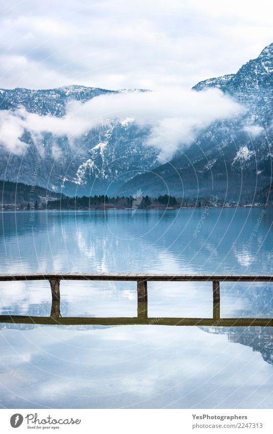Alps mountains reflected in water Vacation & Travel Tourism Freedom Mountain Nature Horizon Lake Small Town Bridge Beautiful Uniqueness Joy Peace Serene