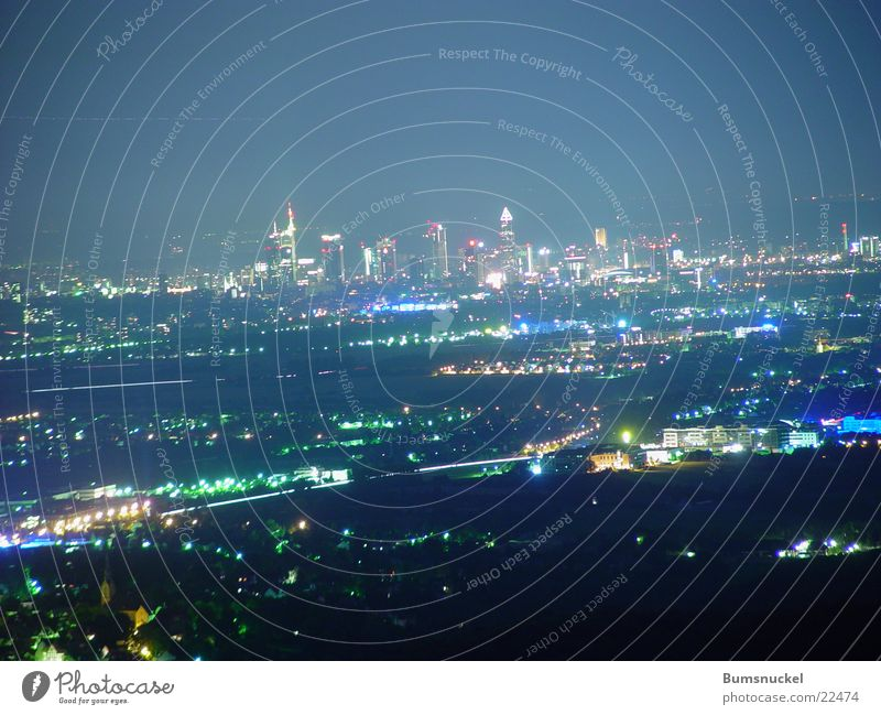 Frankfurt by night Main Night Skyline