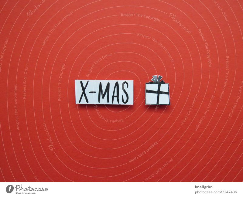 x-mas Characters Signs and labeling Communicate Sharp-edged Red Black White Emotions Joy Happiness Anticipation Safety (feeling of) Together Curiosity Surprise