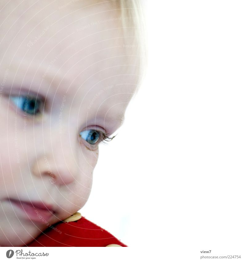 Human being Girl Blue Eyes Life Sadness Think Small Esthetic Safety Hope Protection Cute Trust Meditative Toddler